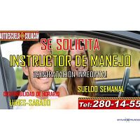 ESCUELA DE MANEJO EN CULIACÁN SOLICITA INSTRUCTORES DE TIEMPO COMPLETO