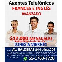 ATENCION A CLIENTES INGLES / FRANCES + 12,000++ LUNES A VIERNES
