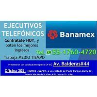 ASESOR TELEFONICO CITI BANAMEX
