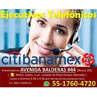 ASESORES TELEFONICOS  **CITIBANAMEX**