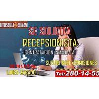 SOLICITAMOS RECEPCIONISTA ESCUELA MANEJO CLN.