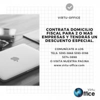 NO LO PIENSES MAS DOMICILIO FISCAL SEGURO SOLO EN VIRTU-OFFICE