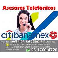ASESORES TELEFONICOS CITIBANAMEX MATUTINO - VESPERTINO