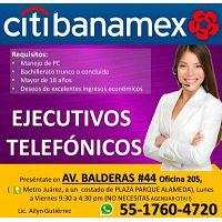 ASESORÍA TELEFÓNICA Y ATENCIÓN A CLIENTES - 1/2 TIEMPO CITIBANAMEX