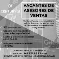 Vacantes de Asesoras de Ventas en Querétaro